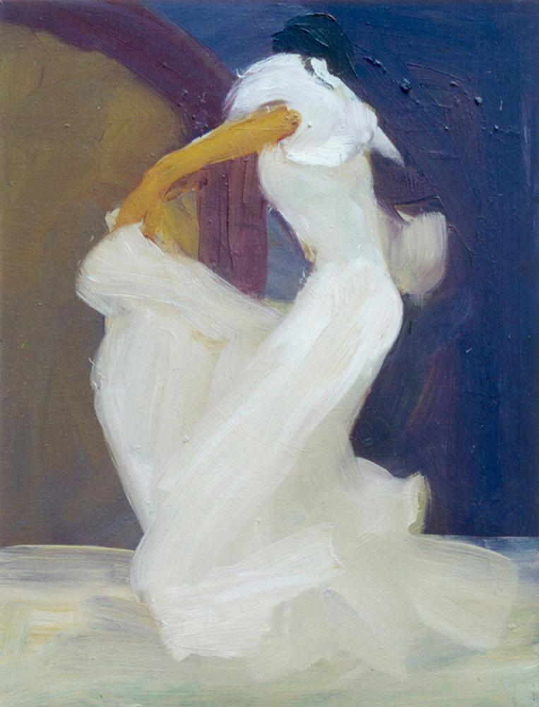 Mozgásban - 2002 olaj, farost, 45x30 cm