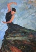 Az Ég és a Föld teremtése - 2010 olaj, vászon, 100x70 cm