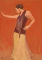 Szecessziós mozdulat - 2006 olaj, farost, 70x50 cm