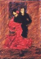 Egyesülés  - 2005 olajpasztell, ecoline, papír, 41×29 cm