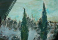 Hideg tél - 2013 árnyék, olaj, vászon, 70×100 cm