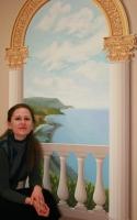 Kilátás a calabriai villámból (részlet) - dekoratív falfestmény, 200×125 cm