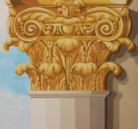 Korinthoszi oszlopfő- dekoratív falfestmény