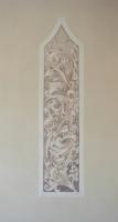 Gótikus minta 2014 freskó, 173×44 cm