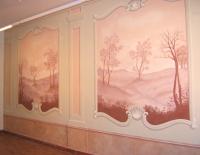 Nagytétényi Kastély falának másolata - dekoratív falfestmény