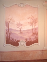 Nagytétényi Kastély falának másolata (részlet) - dekoratív falfestmény