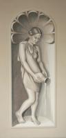 Vízöntő -  secco 150×75 cm