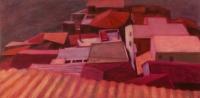 Bova háztetői - 2008 olaj, vászon, 73x151 cm