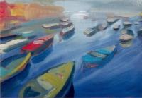 Bari kikötője I. - 2001 olaj, vászon, 50x70 cm