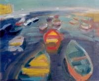Bari kikötője II. - 2001 olaj, vászon, 50x60 cm