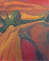 Csongrádi töltés - 2000 olaj, vászon, 60×50 cm