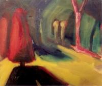 Éjszaka az utcán - 2000 olaj, vászon, 50×60 cm