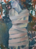 Kullancscsípés, nyári emlék  -  2013 olaj, vászon 120×90 cm