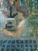 Andrológus doktornő - 2013 olaj, vászon, 120×90 cm
