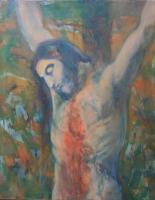Krisztus a kereszten  - 2013 olaj, vászon 100×80 cm