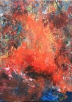 Tűz a torokból  - 2013 olaj, vászon 70×50 cm