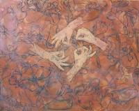 Varrás - 2013 olaj, vászon, 80×100 cm