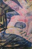 Fonaljáték I. - 2014 akril, karton, 15×10 cm