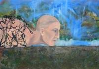 Padlóra kerültem  - 2013 olaj, farost, 70×100 cm