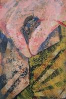 Fonaljáték II. 2014 akril, karton, 15×10 cm