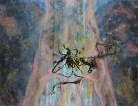 Zuhanás élménye és félelme  - 2013 olaj, karton, 92×120 cm