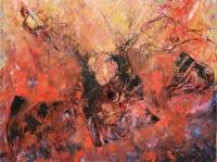 Tűzben  - 2013 olaj, karton, 92×120 cm