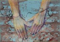 Felszabadult kezek  - 2013 vegyes technika, papír, 35×50 cm