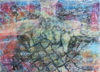 Foszló ruháim I.  - 2013 vegyes technika, papír, 34×47 cm