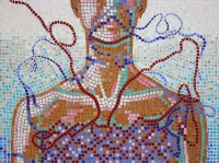 Foszló ruháim  - 2013 üvegmozaik, 60×80 cm