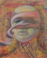 Sebesült maszk - 2013 olaj, vászon, 50×40 cm
