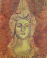 Díszítőelem portré - 2013 olaj, vászon, 50×40 cm