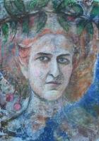 Mara Foerster az Iszkaszentgyörgyi kastélyban - 2013 olajpasztell papír,