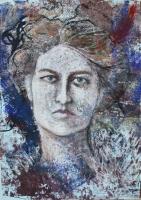 Yrjö Liipola felesége, Mara Foerster - 2013 olajpasztell, papír, 50×33 cm