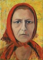 Önarckép (A vidéki élet) - 2014 olaj, vászon, 40×30 cm