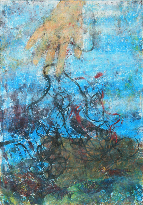 Elengedés - 2013 vegyes technika, papír, 50×34 cm