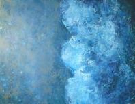 Hullám  - 2012 olaj, karton, 90×120 cm