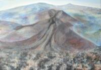 A láva útja  - 2011 olaj, fa, 70×100 cm