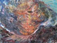Kitörés VI.  - 2012 olaj, karton, 90×120 cm