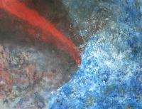 Tűz és víz találkozása  - 2012 olaj, karton, 90×120 cm