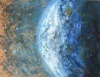 Földgolyó  - 2012 olaj, karton, 90×120 cm