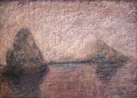 Sziklák  - 2006 olajpasztell, ecoline, papír, 29x42 cm