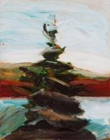 Fenyő  - 2002 olaj, vászon, 60x45 cm