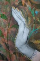 Kertünkben - 2015 akril, kollázs, karton, 30×20 cm