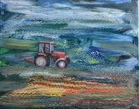 Eltévedt földműves - 2015 olaj, vászon, 35×45 cm