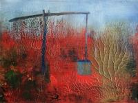 Puszta - 2015 akril, olaj, karton, 15×20 cm