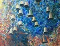 Harangok III. - 2012 olaj, karton, 90×120 cm