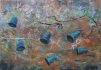 Harangok IV. - 2013 olaj, farost, 70×100 cm