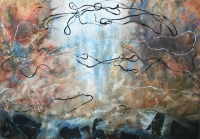 Harangok V. - 2013 olaj, farost, 70×100 cm